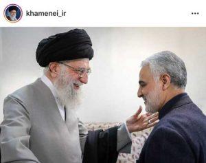 تصویری متفاوت از سردار سلیمانی و رهبر معظم انقلاب اینستاگرام رهبر انقلاب