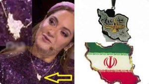 حذف خوزستان از ایران در گردنبند جنجالی مهناز افشار