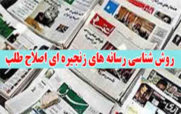 رسانه های زنجیره ای نشریات زنجیره ای رسانه های اصلاح طلب نشریات اصلاح طلب