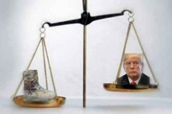 سر ترامپ و کفش سلیمانی