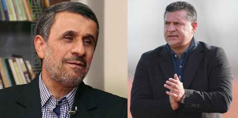 علی دایی بین دو نیمه احمدی نژاد را به رختکن راه نداد علی دایی دکتر محمود احمدی نژاد